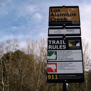 Los Alamitos Trail Sign Hike No 4