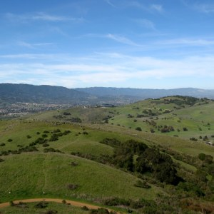 View of Rocky Ridge and Almaden Valley from Coyote Peak