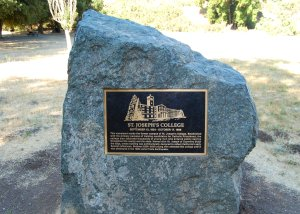Site of St. Joseph's College destroyed in Loma Prieta Earthquake 1989 Hike 19