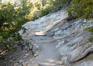 Devil's Slide trail starts to climb