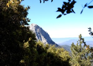 First Glimpse of Tahquitz Peak while on the Trail