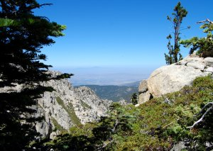Looking west from the Tahquitz Peak Trail hike no 20
