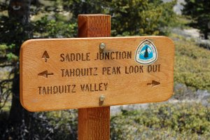 Trail Junction on the way to Tahquitz Peak Look Out Hike No 20