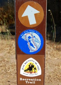 Sample Sign Post Bay Area Ridge Trail and De Anza Trail