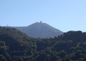 Mt. Umunhum and Old Radar Tower from Woods Road Trail