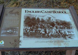 Historical Sign English Camp School Site Hike No 21