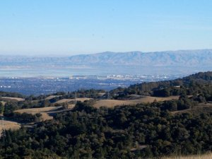 Moffett Field from the top of Borel Ridge Hike No 31