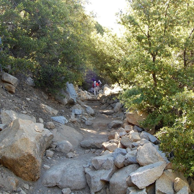 Devils Slide Trail on the switchbacks near Saddle Junction Hike No 20