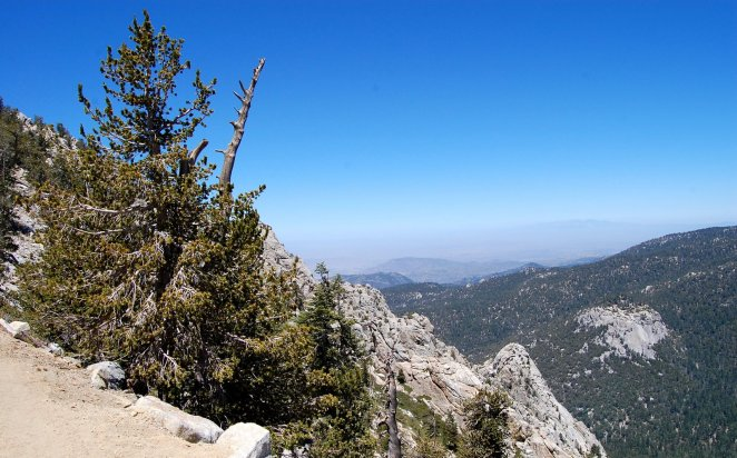 View of San Bernardino and beyond from Tahquitz Peak Trail Hike No 20