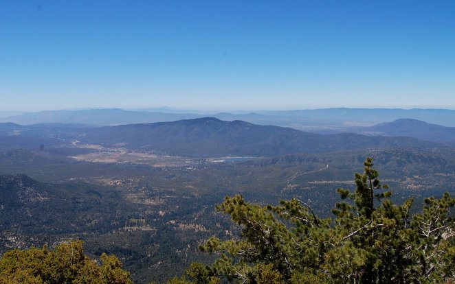 Garner Valley and Lake Hemet from Tahquitz Peak