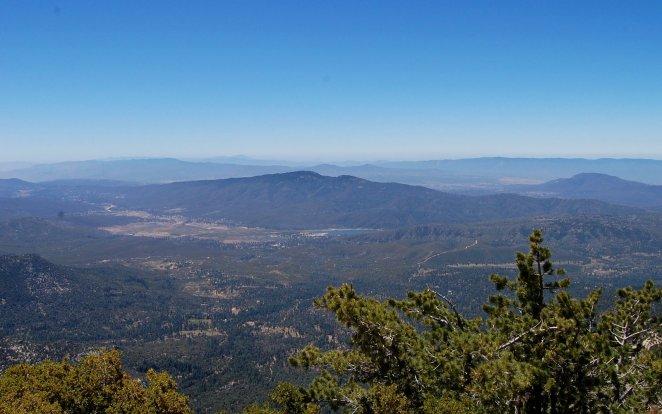 Garner Valley and Lake Hemet from Tahquitz Peak
